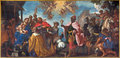 Padua the paint of the adoration of magi scene in cathedral of santa maria assunta duomo italy september by francesco zanella Royalty Free Stock Photos