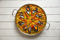 Paella with mussels Royalty Free Stock Photo