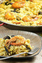Paella with seafood Royalty Free Stock Image