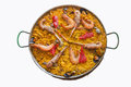 Paella typical spanish with seafood Stock Images
