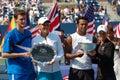 Paes & Black Murray J & Huber US Open 2008 (3) Stock Photos