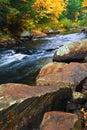 Paesaggio di Fall River Immagini Stock