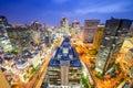 Paesaggio urbano di osaka giappone Immagini Stock