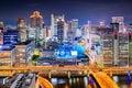 Paesaggio urbano di osaka giappone Immagini Stock Libere da Diritti