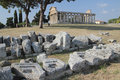 Paestum ruins, Italy Royalty Free Stock Photo