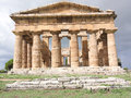 Paestum temple front of a in italy Stock Photography