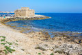 Pafos medieval fortification of bay cyprus Royalty Free Stock Image