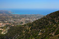 Pafos top view on the cyprus Royalty Free Stock Photography