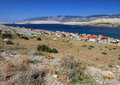 Pag island, croatia, adriatic sea Stock Image