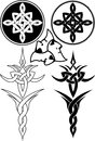 Pagan braided patterns symbols head of gereon vector Stock Photo