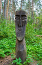 Pagan idol peoples of siberia small tribes Stock Photo