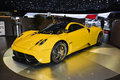 Pagani huayra at the geneva motor show on display during switzerland march Royalty Free Stock Images