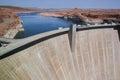 Page, Arizona, USA – August 12, 2009: Glen Canyon Dam and Lake Powell Royalty Free Stock Photo