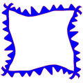 Page border blue spike picture frame Stock Photo