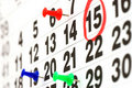 Page of calendar showing date of today Royalty Free Stock Image
