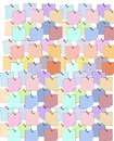 Page of Colorful Postit Notes Royalty Free Stock Photo