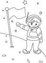 Page de coloration d astronaute Photographie stock libre de droits