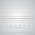 Page dividers collection of various decorative Stock Image