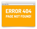 Page error on opened internet browser window with shadow isolated template Royalty Free Stock Images