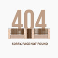 Page with a 404 error