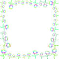 Page with flower border white blank colorful Royalty Free Stock Photography