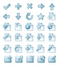 Page icons Stock Images