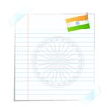 Page with Indian Flag Stock Photo