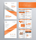 Page layout for company profile, annual report, and brochure template. Royalty Free Stock Photo