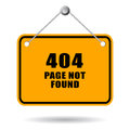 Page not found error sign Stock Image