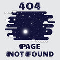 404 Page not found Space theme, with sun, star, galaxy and satellite. Concept Internet webpage vector illustration of 404 Page not Royalty Free Stock Photo