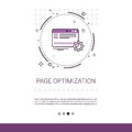 Page Optimization Content Management Web Banner With Copy Space