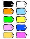 Page set colors sticky Stock Image