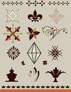 Page and text decorations set of design elements patterns symbols icons for borders or separations Royalty Free Stock Photography