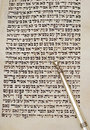 Page of torah and yad Stock Photography