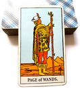 Page of Wands Tarot Card Royalty Free Stock Photo