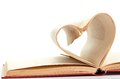 Pages of a book curved into  heart Royalty Free Stock Image