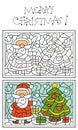 Paginación del colorante de la Navidad Fotos de archivo libres de regalías