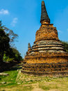 The pagoda ancient at ayutthaya historical park Stock Photos
