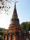 Pagoda in ancient temple ayutthaya thailand Stock Photography