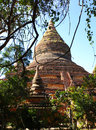 Pagoda antique de brique dans Bagan, Myanmar Photo stock