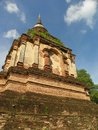 Pagoda in chedyod temple chiangmai city Royalty Free Stock Images