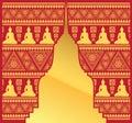 Pagoda Ethnic buddha pattern background