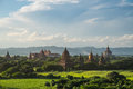 Pagoda field at Bagan, Bagan is ancient city with thousands of t