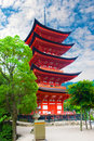 Pagoda five storied at miyajima island japan Stock Image