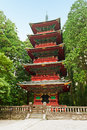 Pagoda five storied at nikko japan Stock Photos