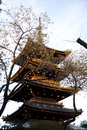 Pagoda in japan ueno park Stock Image