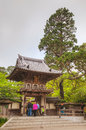 Pagoda at Japanese Tea Garden in San Francisco Royalty Free Stock Photo