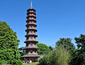 Pagoda at Kew Garden Royalty Free Stock Images