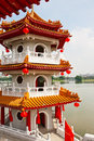 Pagoda on lake Royalty Free Stock Image