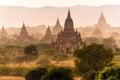 Pagoda landscape in Bagan Royalty Free Stock Photo